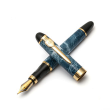 Jinhao Royal Brunnen Stift, Schwert & Schild Clip, Luxus Gold Ring Trim, Medium Nib, büro Unterschrift Schule Kalligraphie A6167(China)