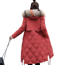 купить Brieuces 2019 winter women hooded coat fur collar thicken warm long jacket female plus size outerwear parka ladies chaqueta по цене 1778.73 рублей