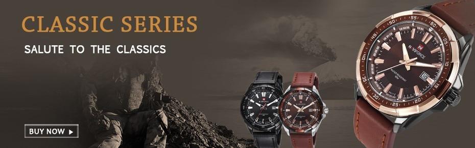 9056  High Model Luxurious NAVIFORCE Males Sports activities Watches Males's Military Navy Leather-based Quartz Watch Male Waterproof Clock Relogio Masculino HTB1TgvSmBcHL1JjSZFBq6yiGXXa0