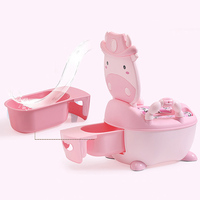 Cartoon Baby Pot Cute Toilet Seat Pot For Kids Potty Training Seat with Soft Mat Children's Potty Bowl Pot Training Toilet