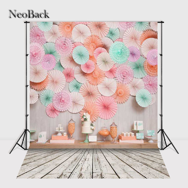 NeoBack 5x7ft Customize Vinyl Children Kids Birthday Photo Backdrops Computer Printing Wedding Party Event Backgrounds P1022