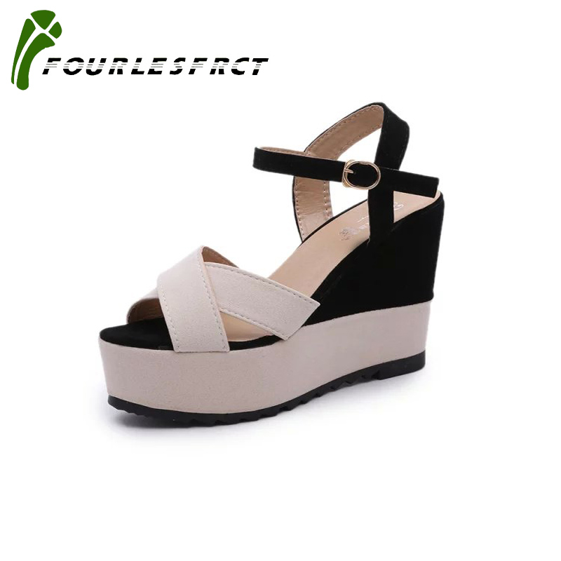 Women Sandals 2017 Summer New Open Toe Fish Head Fashion platform High Heels Wedge Sandals female shoes women shoes size35-39 claire llewellyn kingfisher readers spiders level 4 reading alone