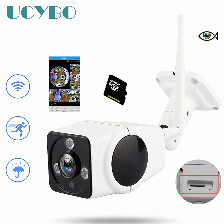 HD WiFi Panoramic hd fisheye ip camera 360 degree wireless 960P bullet outdoor cctv Network Security Surveillance Camera SD Card