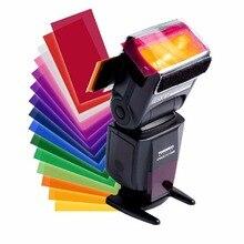 12 цветов гелевый фильтр Рассеиватель Вспышки софтбокс студийный светофильтр для большинства вспышек YongNuo Meike Godox Triopo Viltrox Meike Flas