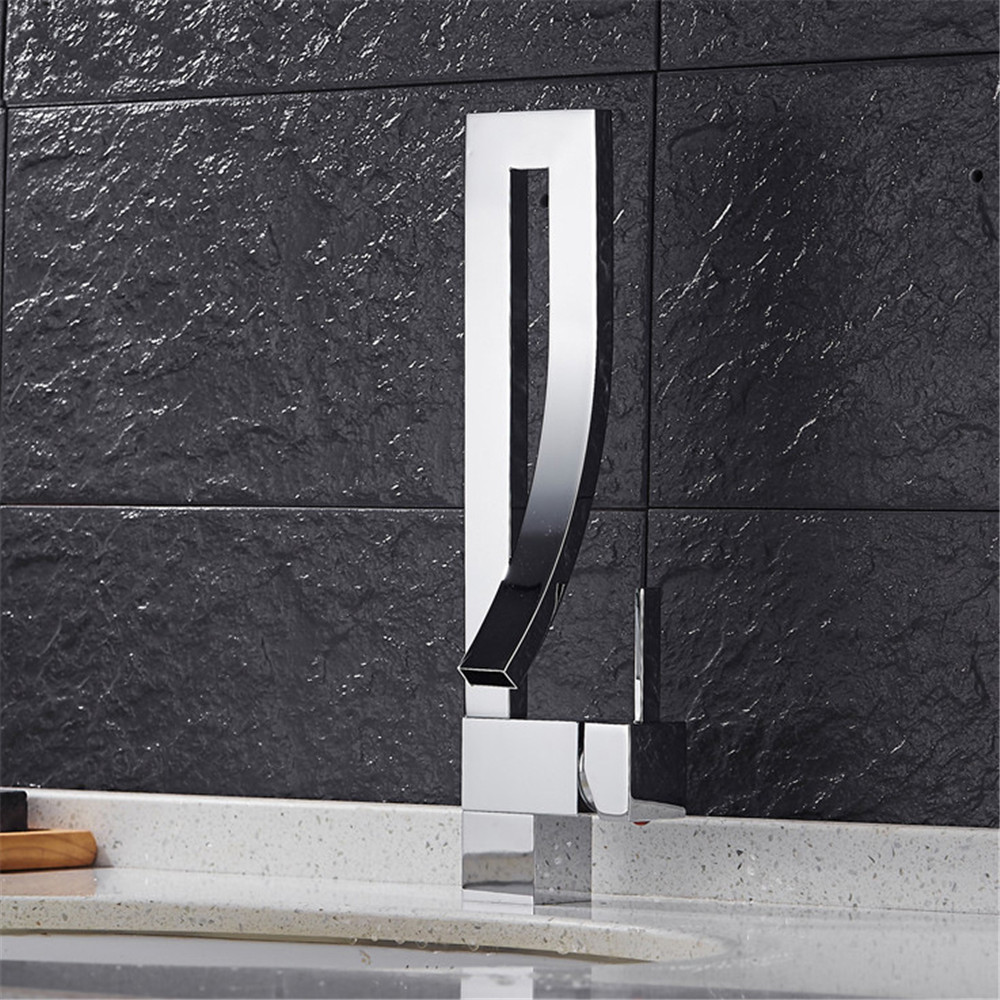 3 colors choose basin faucet bathroom waterfall mixer faucet black water tap single hole infos bathroom led waterfall water tap