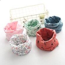 Хлопковый Детский шарф; детские нагрудники для мальчиков и девочек; тканевые Слюнявчики; милые детские воротники; шейный платок с круглым вырезом