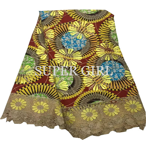 Amazing Embroidery Veritable Wax Material Colorful Batik Super