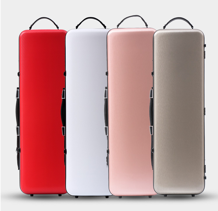 white  4/4 New Violin Case Glass Fiber  Light Strong  lock Have  violin case straps new 4 4 violin case fiber glass strong light 117 red