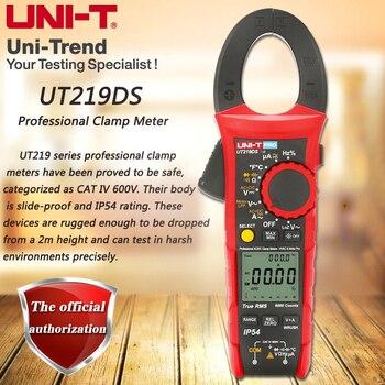 Профессиональный UT219DS true RMS Профессиональный зажим метр; IP54 пыли/водонепроницаемый цифровой амперметр, LoZ измерение напряжения
