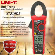 UNI T UT219DS true RMS Professional Clamp Meter; IP54 dust/waterproof digital ammeter, LoZ voltage measurement