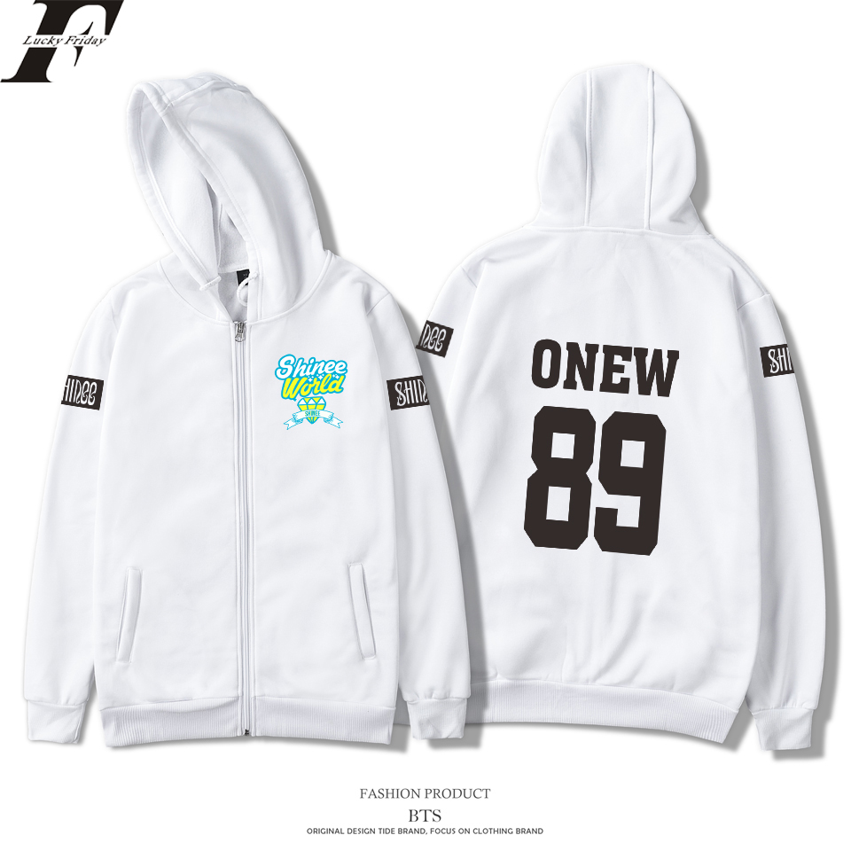 2018 harajuku SHINee Jonghyun Kpop R.I.P. Zipper cotton oversized Hoodies Sweatshirts Women men moletom tracksuit plus size