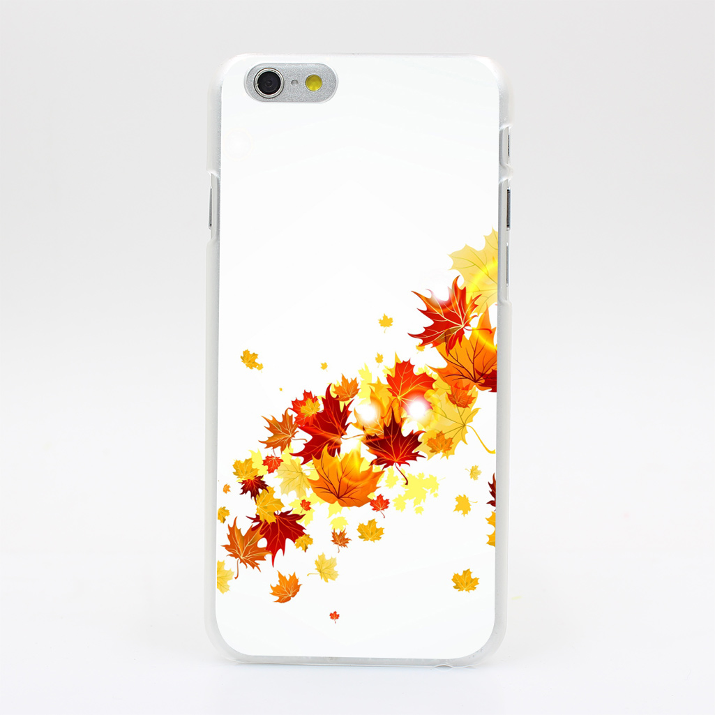 1314Y Leaves Maple Autumn Flying Hard Case Transparent Cover for iPhone 4 4s 5 5s 5c SE 6 6s 7 & Plus