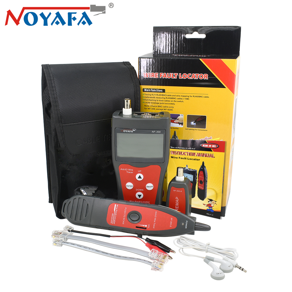 Noyafa NF-300 Lan Tester RJ45 BNC USB RJ11 Telephone Network Cable Tester Wire Tracker Anti-Interference Network Crimping Tool noyafa professional nf 806 network wire tracker telephone wire finder portable handheld rj45 rj11 lan cable testing tool