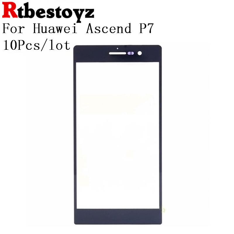 RTBESTOYZ 10Pcs/lot Front Touch Panel Glass For Huawei Ascend P7 Touch Screen Lens White ...