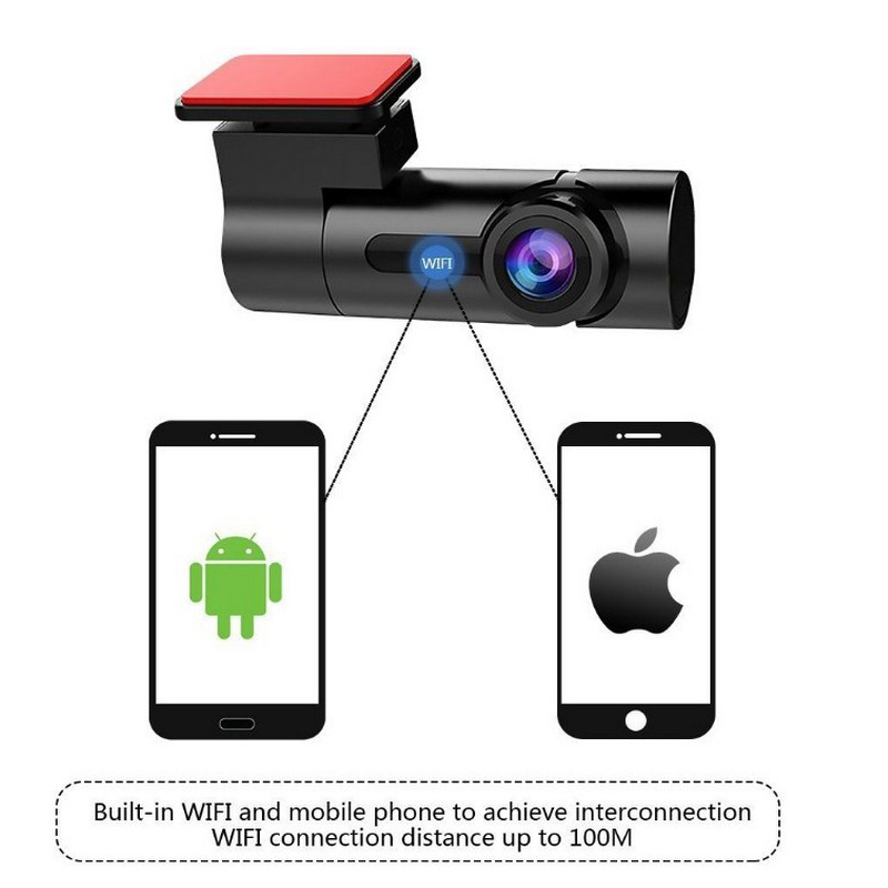 Image 2 - Collision Sensor WIFI DVR Recorder Camera Video Auto Support Microphone Car DVR Camera Mirror 170 Degree Driving Recorder Camera-in DVR/Dash Camera from Automobiles & Motorcycles