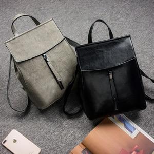 Image 3 - Hakiki Deri Kadın Vintage Sırt Çantası Perdahlı Inek Bölünmüş Kadın omuzdan askili çanta Bayanlar Geri Paketi Seyahat Çantaları Genç Kızlar Için