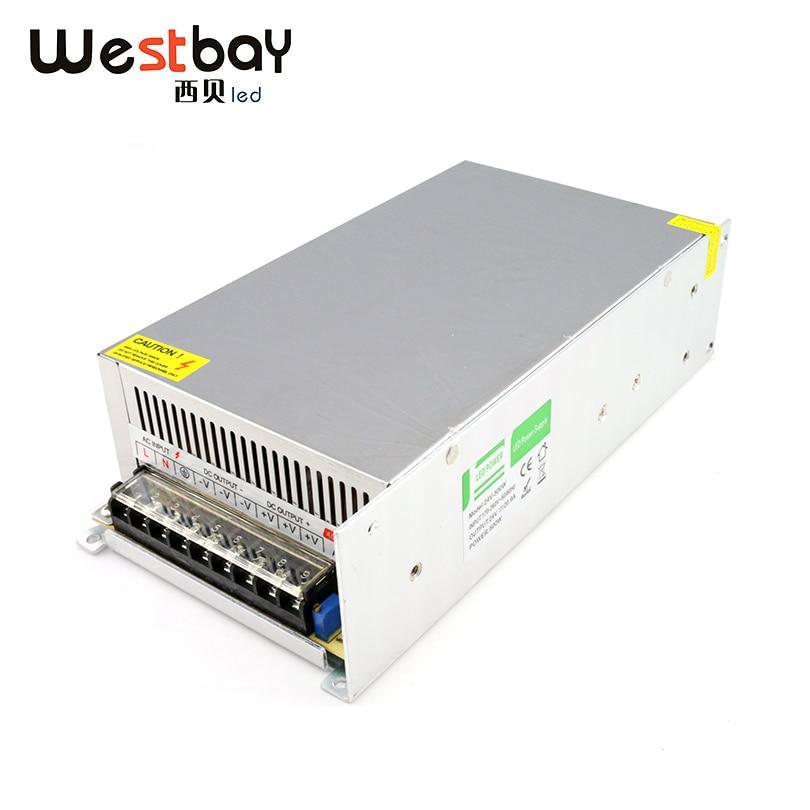Westbay haute qualité 24 V alimentation 20.8A 500 W adaptateur secteur AC 90-110 V ou 170-240 V à 24 V transformateur en aluminium adaptateur commutateur