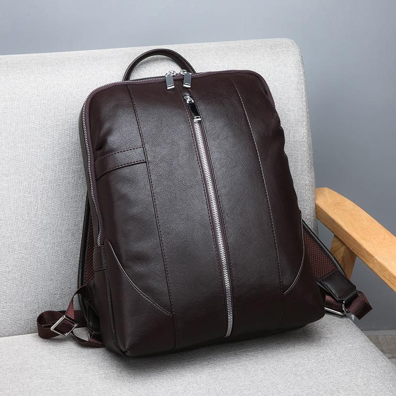 Men 39 s Business Shoulder Backpack Leisure Travel School Wind Backpack 2019New bag,backpack men,leather laptop backpack, in Backpacks from Luggage amp Bags