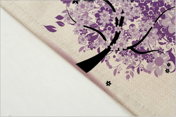Hot Sale Colorful Tree Placemat Cotton Linen Drawing Table Mat Dishware coasters For Dinner Accessories Cup Wine mat