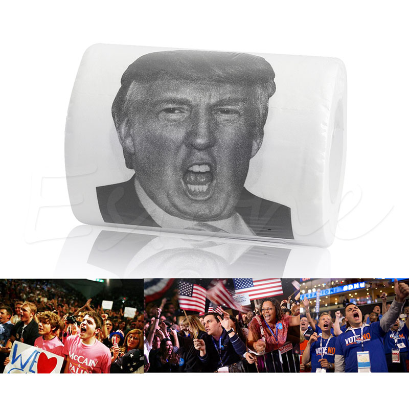 Donald Trump Toilet Paper 3 ply 150 Sheet Home Toilet Tissue Roll ...