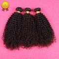 Cabelo Virgem Encaracolado Kinky mongol 3 Pçs/lote Brasileiro Kinky Curly Virgem Cabelo, Melhor Afro Kinky Curly Cabelo Humano Weave