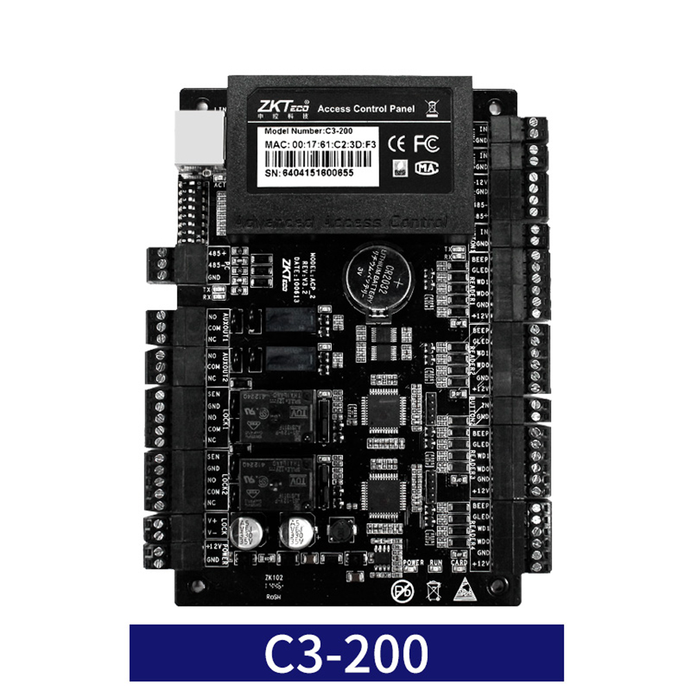 Image 4 - ZK C3 100/200/400 TCP IP Wiegand 26 Door Access Control Panel Board for security solutions access control System 30000Users-in Access Control Kits from Security & Protection