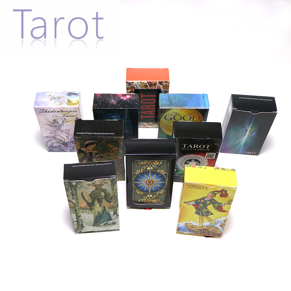 14 Style Tarot Cards English Version Mysterious Divination Fate Personal Playing Cards Game For Women Wheel Year Rider Dark Artl