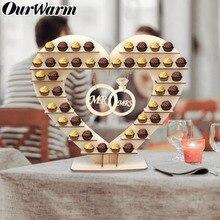 OurWarm Wooden Ferrero Rocher Stand Wedding Party DIY Decoration Chocolate Wedding Centre Display St