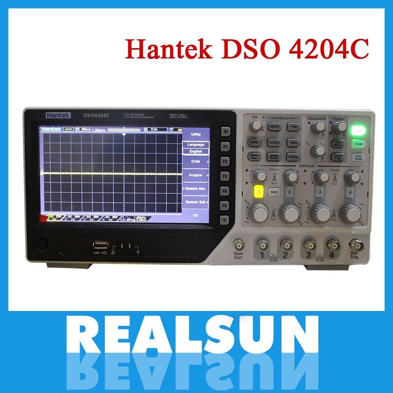 Hantek Dso4204C Digital Storage Oscilloscope 200Mhz 4channels 1Gsa s Record Length 64K 7 Tft Lcd better