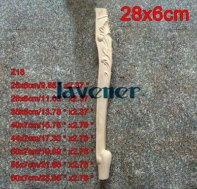 Z18-28x6 cm de madeira esculpida onlay apliques carpenter decal mesa de pé de carpinteiro de trabalho de madeira