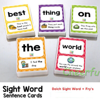 288Pcs /set English Sight Words Learning Card Games Puzzles for Kids Children Toys Brain Juegos Educativos Early Educational Toy