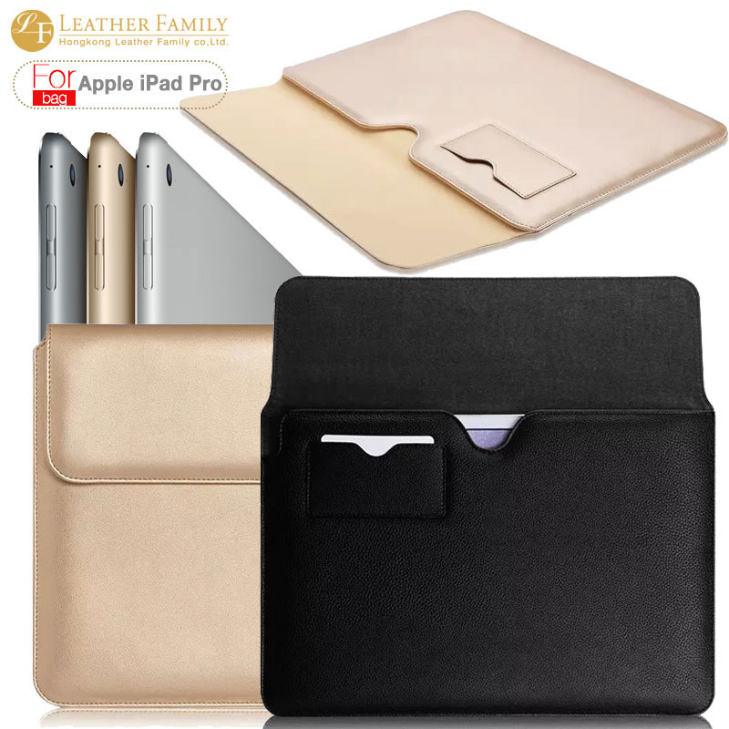 newest ultra thin pu leather sleeve bag for ipad pro 12.9 case Magnetic flip cover for ipad pro 12.9 inch pouch with card hole lychee texture pu leather magnetic flip pouch protective case for ipad mini 2 3 white