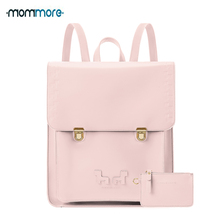 mommore Cute PU Leather Backpack Casual School for Girls 13 Inch Laptop with Small Purse Mochila Feminina