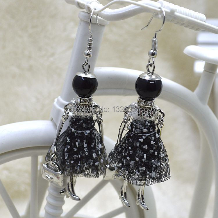 Spring Styles New Arrival Fashion Earrings Lovely Dress Folk Style Doll Pendant Earrings Women