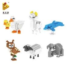 PANLOS BRICK high quality diamond small particles micro building blocks cartoon animal mini spelling toys