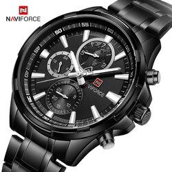 NAVIFORCE męska kreatywny Watche mężczyźni Top marka luksusowe pełna stal kwarcowy zegarek męski zegarek sportowy zegarki Relogio Masculino