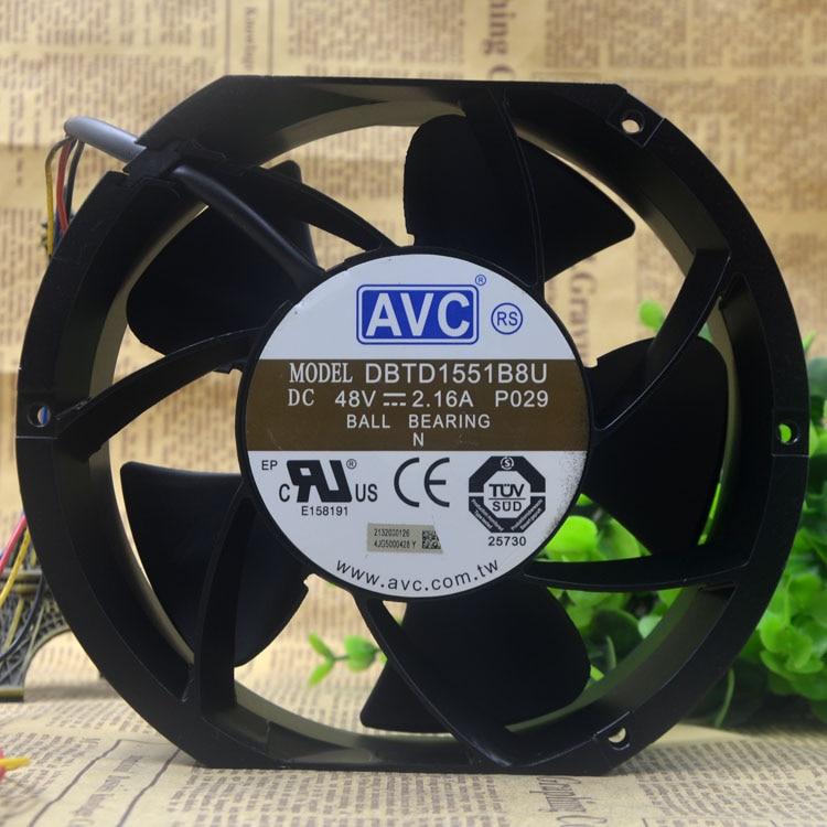 Nouveau original DBTD1551B8U 48 V 2.16A vent volume quatre fils pwm vitesse ventilateur