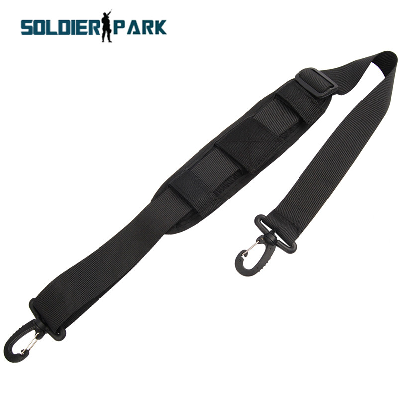 1000D Adjustable Bag Accessory Replaceable Shoulder Padded Strap with Hooks Military Tactical Travel Belt Camera Pouch Sling