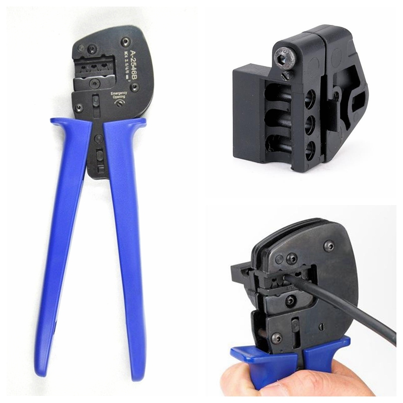 5 Pcs A-2546B MC4 Connectors Crimping Tools Solar Crimper Pliers For PV Cable pz0 5 16 0 5 16mm2 crimping tool bootlace ferrule crimper and 1k 12 awg en4012 bare bootlace wire ferrules