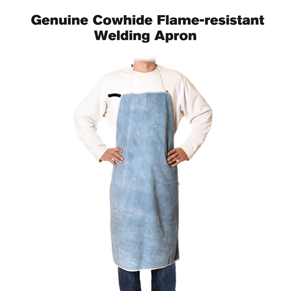 Genuine Cowhide Leather Welding Heavy Duty Welding Clothes Wear-resistant Resistant Welding Apron Working Apparel Safety Clothing Security & Protection