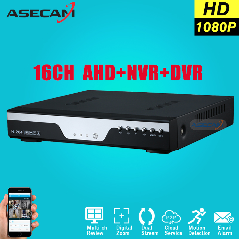 Super 16CH AHD DVR AHD-H HD Full 1080P Video Recorder H.264 CCTV Camera Onvif Network 16 Channel IP NVR Multilanguage mold heating element cartridge heater 10 2 wire 110v 400w 9 5mm x 100mm