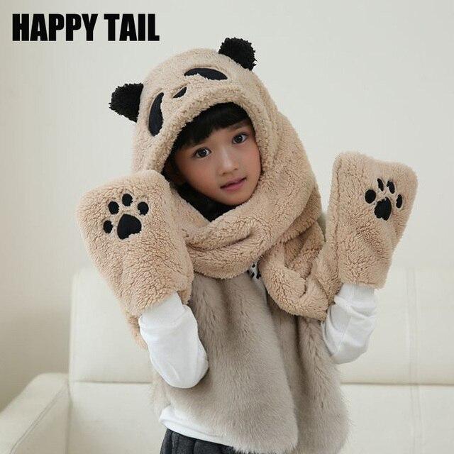 Новые Детские панды плюшевые шапка 497b9deaad723