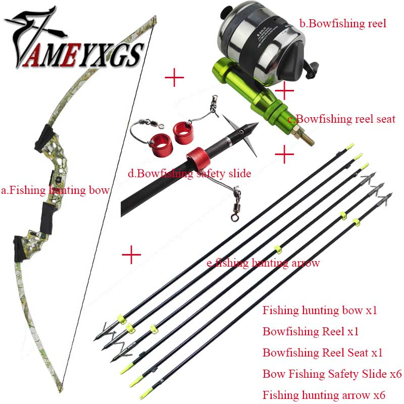 Bowfishing Set Bow Fishing Archery Arrow Reel Spincast Reel Slingshot Recurve Compound Bow Shooting Arrow high quality stainless steel bow slingshot catapult hunting shooting fishing spincast reel 10lb