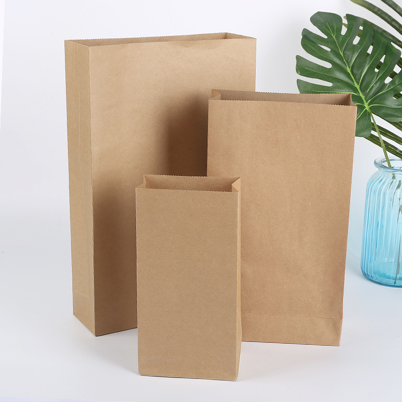 300 X Small Medium Large Kraft Stand Up Paper Bread Bags With Sticker Red Dark Green Brown Tea Bag For You In Gift Wring Supplies From Home