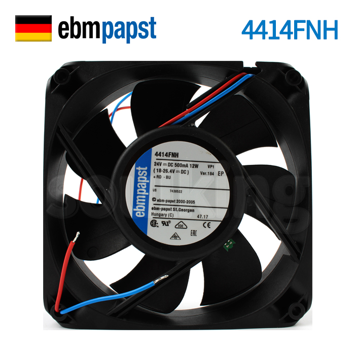 NEW ebmpapst PAPST 4414FNH 12025 24V 12W high rotating speed Axial cooling fanNEW ebmpapst PAPST 4414FNH 12025 24V 12W high rotating speed Axial cooling fan