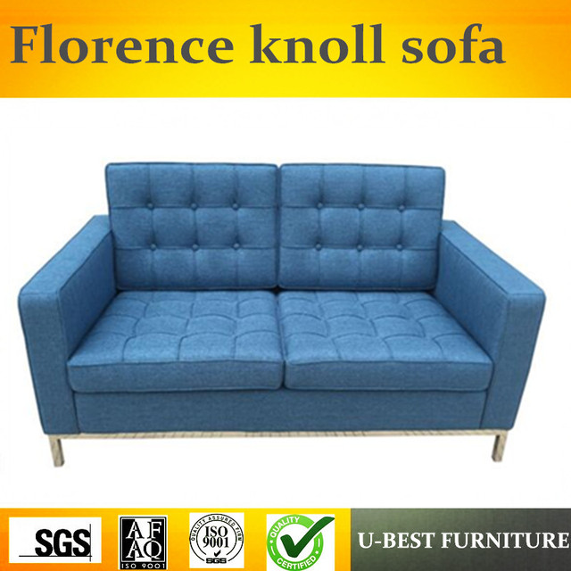 U BEST Modern Living Room Classic Replica Leather Pu Knoll Corner Sofa, Replica Mid