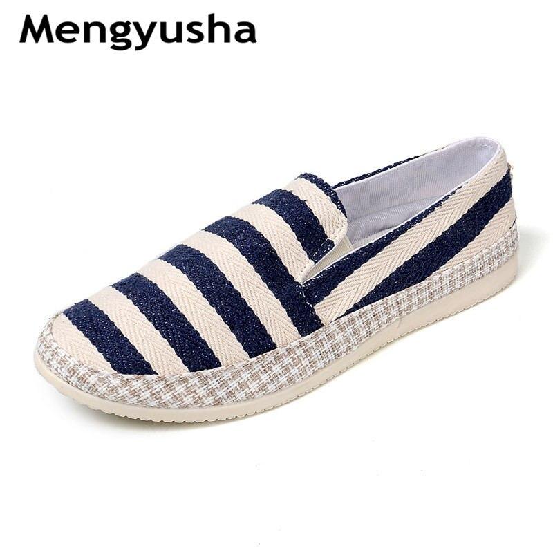 2018 Frühling Atmungs Leinwand Schuhe Trend Wilden Korean Faul Schuhe Füße Der Männer Alten Peking Schuhe