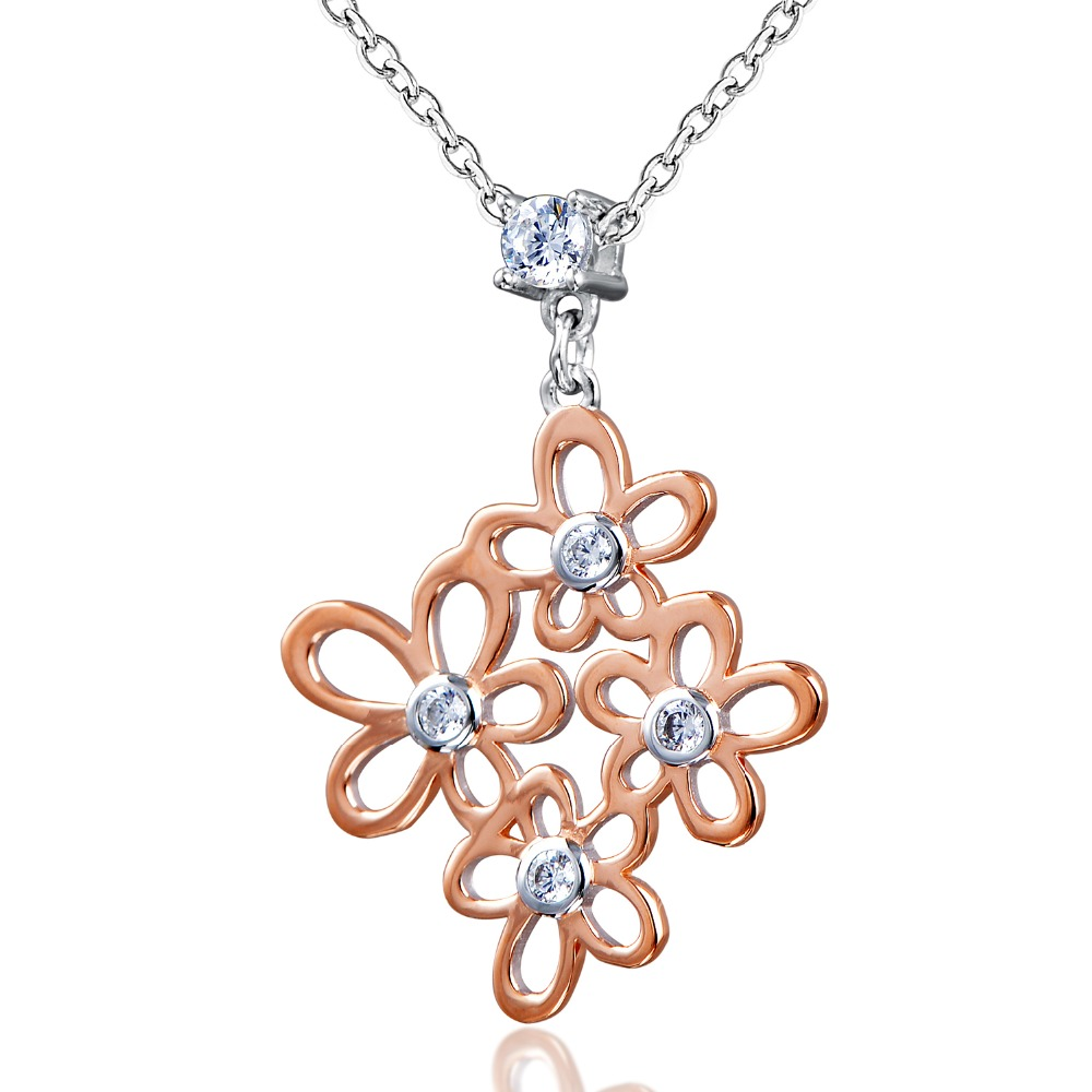 DORMITH  real 925 sterling silver Necklace  cubic zircon  flower earrings for women pendant necklace jewelry for women jewelryDORMITH  real 925 sterling silver Necklace  cubic zircon  flower earrings for women pendant necklace jewelry for women jewelry