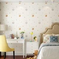 PAYSOTA Modern Striped Cartoon Basketball Wallpaper Boy Girl Bedroom Children Room Background Green Wall Paper Roll