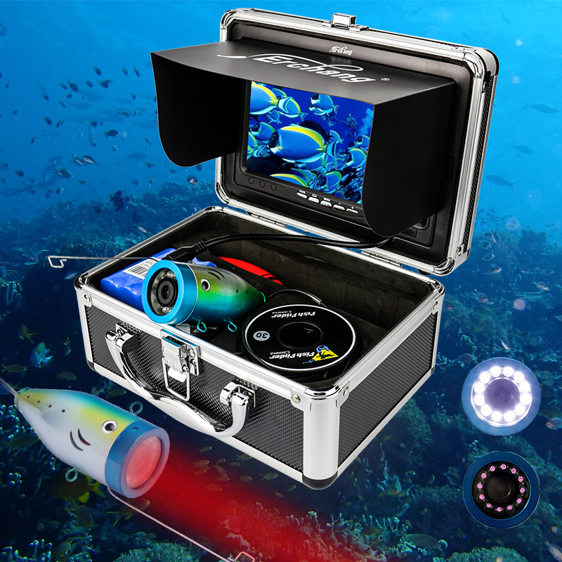 Erchang Ice Underwater Fishing Video Camera Fish Finder In English 1000TVL 7 Color Sea Fishing Monitor
